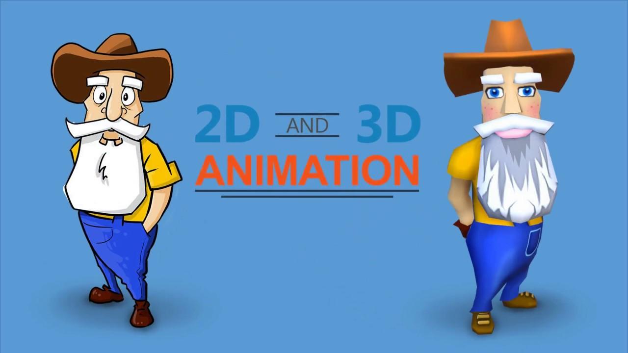 Sự khác biệt giữa 2D Animation và 3D Animation